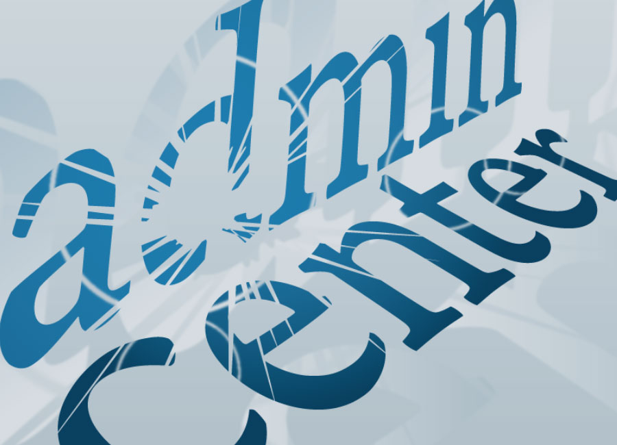 Admin Center Logo | Designed by Brooke Rogers